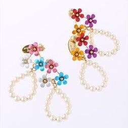 Honey Salon Petite Flower Pearl Earrings