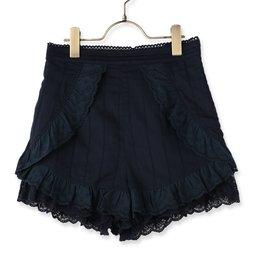 LIZ LISA Cotton Lace Frill Shorts
