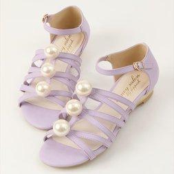 Honey Salon Big Pearl Sandals (Lavender)