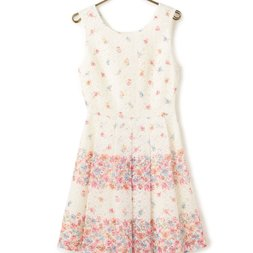 LIZ LISA Lace Striped Flower Dress