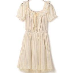 LIZ LISA Puffy Pleated Dress