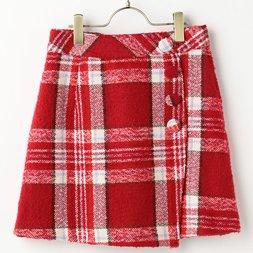 LIZ LISA Checkered Wrap Skirt