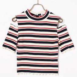 LIZ LISA Shoulderless Striped Top