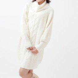 LIZ LISA Brushed Yarn Big Silhouette Knit Dress