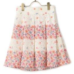 LIZ LISA Lace Striped Flower Skirt
