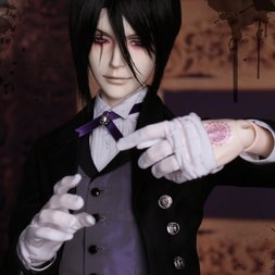 Black Butler: Book of Circus - Sebastian Michaelis Cast Doll