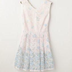 LIZ LISA Checkered Lace Flower Dress