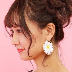 Honey Salon Daisy Hoop Earrings