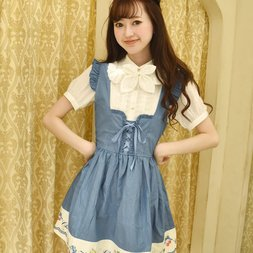 LIZ LISA Dungaree Cherry Jumper Skirt
