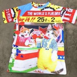 ACDC RAG Name Neko Parasol T-Shirt Dress