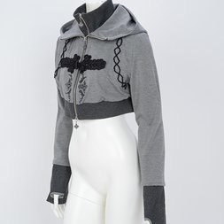 Ozz Oneste Chinese-Style Button Short Hoodie