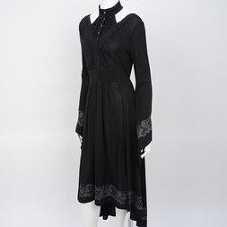 Rozen Kavalier Print Flared Dress