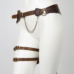 Rozen Kavalier Embroidered Feather Waist Bag w/ Leg Belt