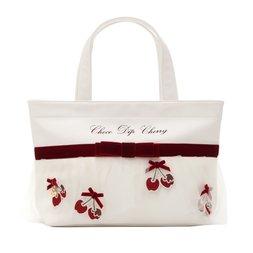 LIZ LISA Chocolate-Dipped Cherries Tote Bag