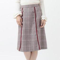 LIZ LISA Scalloped Checkered Skirt
