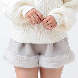 LIZ LISA Fur Hem Shorts