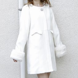 LIZ LISA Hooded Faux Fur Coat