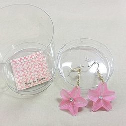 aller au lit Origami Sakura Earrings