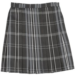 Teens Ever Black x Gray High School Uniform Skirt