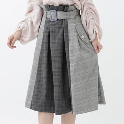 LIZ LISA Mixed Checkered Skirt