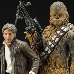 ArtFX+ Star Wars: The Force Awakens Han Solo & Chewbacca
