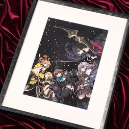 Terra Battle Dancers Lithograph w/ Frame