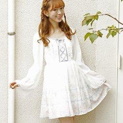 LIZ LISA Ribbon Rose Chiffon Dress