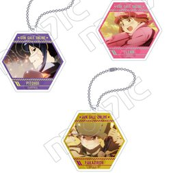 Sword Art Online Alternative: Gun Gale Online Acrylic Hexagonal Keychain Collection