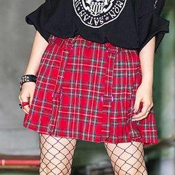 LISTEN FLAVOR Pleated Skirt w/ Side Belts