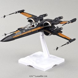 Star Wars: The Force Awakens Poe's X-Wing Fighter 1/72 Scale Plastic Model Kit