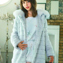 LIZ LISA Layered Fur Coat