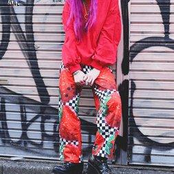 ACDC RAG Checkered Strawberry Pajama Pants