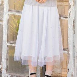 LIZ LISA Pearl Tulle Skirt