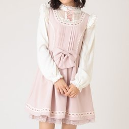 LIZ LISA Lace Ribbon Jumper Skirt