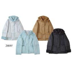 Honey Salon 2-Way Short Mouton Coat
