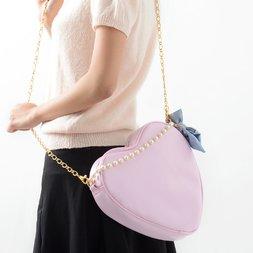 Pinkymika Heart x Ribbon Chain Bag