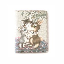 Wachifield Dayan the Cat Usagi no Aka-chan Art Pass Case