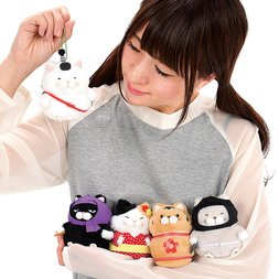 Hige Manjyu Oedo Cat Plush Collection (Ball Chain)