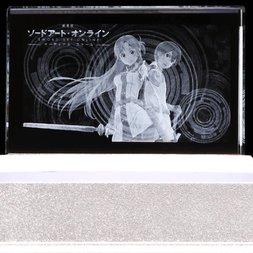 Sword Art Online the Movie Ordinal Scale Kirito and Asuna Premium Crystal /w Serial Number