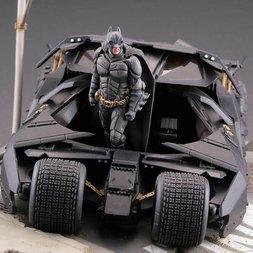 Batman Begins Legacy of Revoltech Batmobile Tumbler in Gotham City