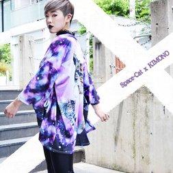 ACDC RAG Galaxy Cat Kimono