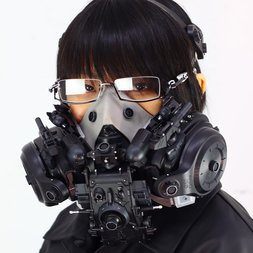 Black Cyberpunk Mask