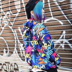 ACDC RAG Graffiti Zippered Hoodie
