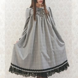 Atelier Pierrot Checkered Amabile Dress