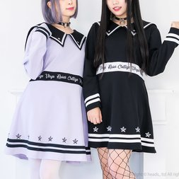 LISTEN FLAVOR Otome Line Sailor Dress