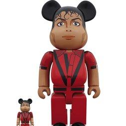 BE@RBRICK Michael Jackson Red Jacket 100% & 400% Set