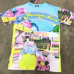 ACDC RAG Name Neko Land Parasol T-Shirt Dress