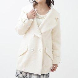 LIZ LISA Lace-Up Cocoon Coat