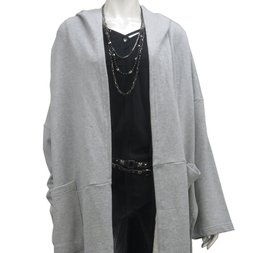 Ozz Croce Loose Long Hooded Cardigan