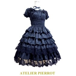 ATELIER PIERROT Classic Rose Puff Dress